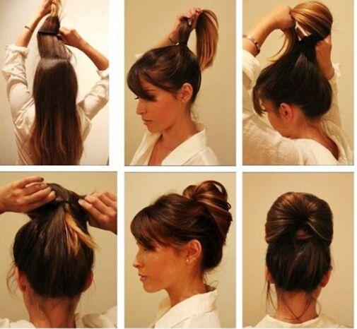 Прически на волосы средней длины в домашних условиях своими руками 50