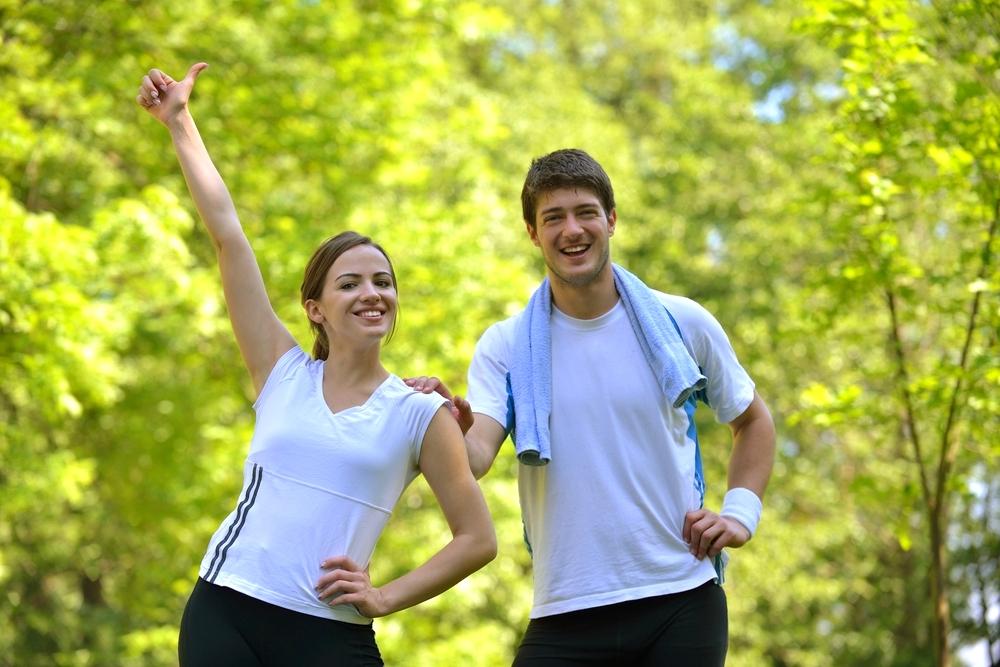 spor yapan çift